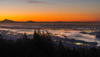 Lions Gate Bridge Photograph - The City Awakens by Ian Stotesbury