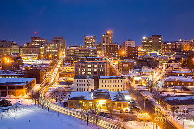 Maine Landscape Photograph - The City Electric - Portland Maine by Benjamin Williamson