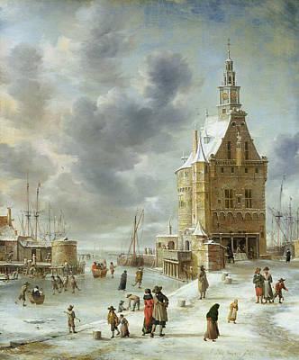 The City Gate Of Hoorn  Art Print