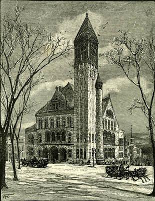 The City Hall Albany 1891 Usa Art Print by American School