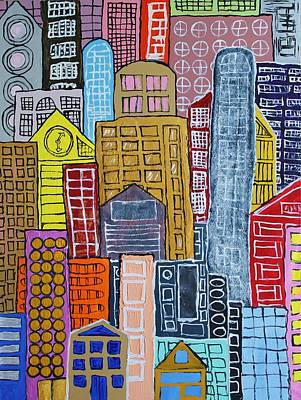 Painting - The City by Mark Watson