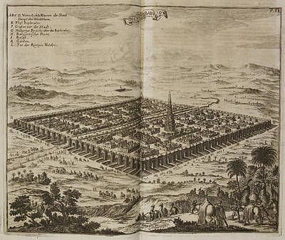 Dapper Photograph - The City Of Babylon. 17th Illustration by British Library