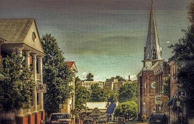 The City Of Lexington Virginia Art Print by Kathy Jennings