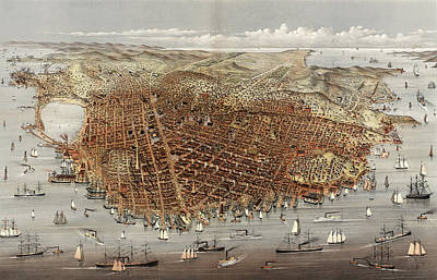 The City Of San Francisco Art Print by Litz Collection