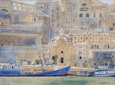 Valletta Painting - The City Of Stone by Lucy Willis