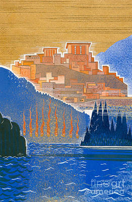 The City Of Troy From The Sea Art Print by Francois-Louis Schmied