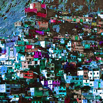 The City On The Hill V1p168 Square Art Print by Wingsdomain Art and Photography