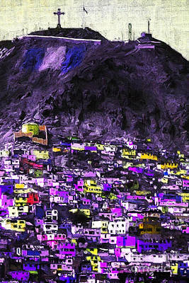The City On The Hill V2p128 Art Print by Wingsdomain Art and Photography