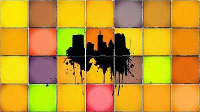Painting - The City Splash by Florian Rodarte