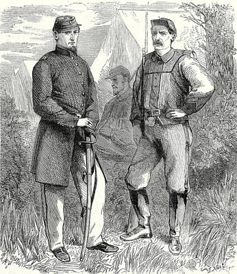 Old Boots Drawing - The Civil War In America Colonel Ellsworths Volunteer by American School