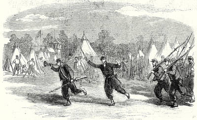 The Civil War In America New York Firemen Zouaves Turning Art Print by American School