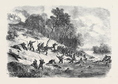 The Civil War In America Retreat Of The Federalists Art Print