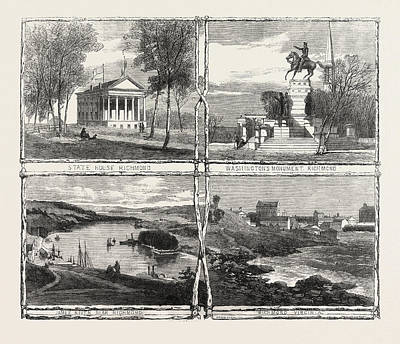 Us Capital Drawing - The Civil War In America Sketches From Richmond by English School