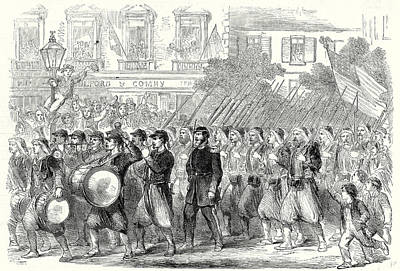 The Civil War In America The 5th Regiment Of New York Art Print