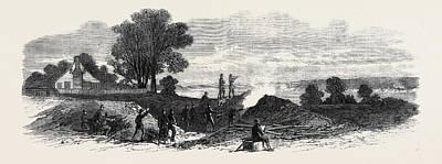 The Civil War In America The Ten Pounder Gun Battery Art Print
