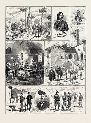 Barcelona Drawing - The Civil War In Spain 1. Advanced Guard Of Carlists by Spanish School