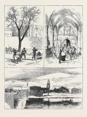 The Civil War In Spain 1. Republican Guardia Foral Cutting Art Print
