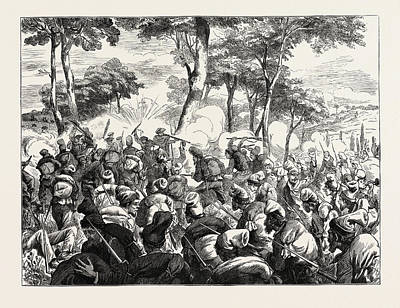 The Civil War In Spain Bayonet Charge Of Republican Art Print by Spanish School