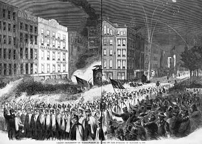 The Civil War, Republican Party Rally Art Print