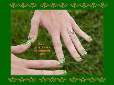 Photograph - The Claddagh Ring On Her 16th Bday by LeeAnn McLaneGoetz McLaneGoetzStudioLLCcom