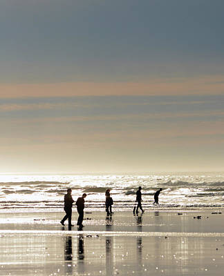 Razor Clams Wall Art - Photograph - The Clam Hunt by Kevin Felts