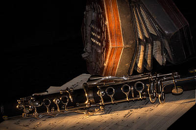 The Clarinet And The Concertina Art Print by Ann Garrett