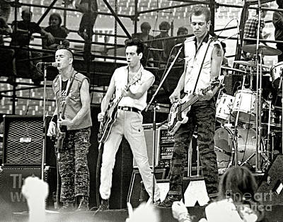 The Clash Photograph - The Clash 1982 by Chuck Spang