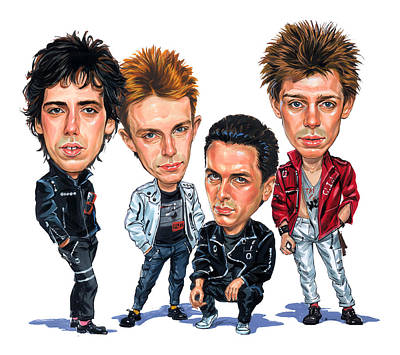 The Clash Art Print by Art