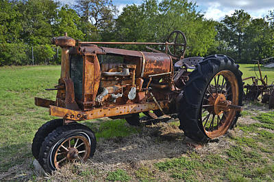 Photograph - The Classic Old Tractor by Allen Sheffield