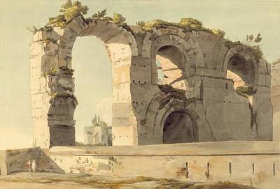 The Claudian Aqueduct, Rome, 1785 Wc, Pen, Ink And Graphite On Paper Art Print by Francis Towne