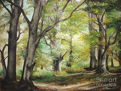 Art Print featuring the painting The Clearing by Sorin Apostolescu