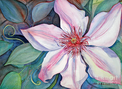 Painting - The Clematis by Shirin Shahram Badie