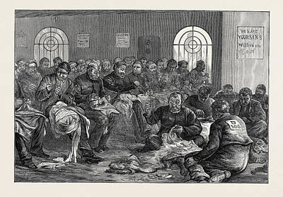The Clerkenwell House Of Correction The Needle Room 1874 Art Print by English School