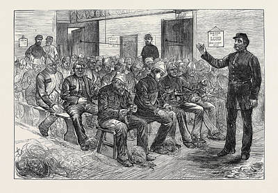 The Clerkenwell House Of Correction The Oakum Shed 1874 Art Print