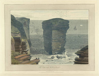 The Clett-rock Art Print by British Library