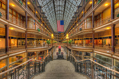Photograph - The Cleveland Arcade V by Clarence Holmes