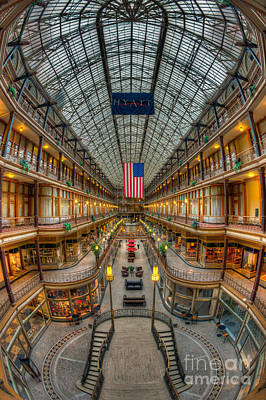 The Cleveland Arcade Vii Art Print by Clarence Holmes