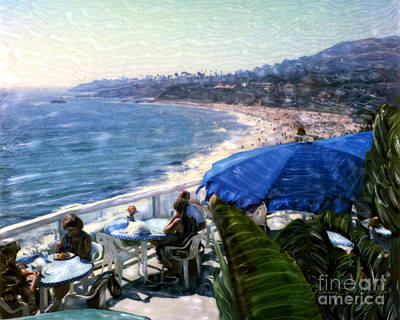 The Cliff Laguna Beach Art Print by Glenn McNary