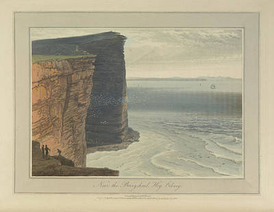 The Cliffs Near The Berryhead At Hoy Art Print by British Library