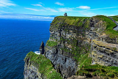Photograph - The Cliffs Of Moher And O'brien's Tower by Marilyn Burton