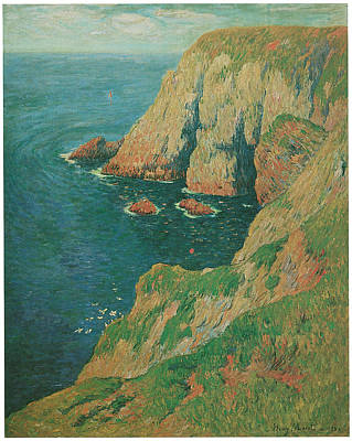 The Cliffs Of Stang Ile De Croix Art Print by Henry Moret
