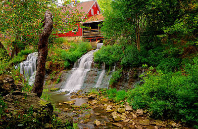 The Clifton Mill And Waterfall- Clifton Ohio Art Print