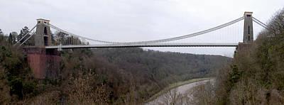 Suspension Bridge Digital Art - The Clifton Suspension Bridge by Mike McGlothlen