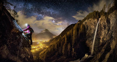 Milky Way Wall Art - Photograph - The Climb by Dr. Nicholas Roemmelt