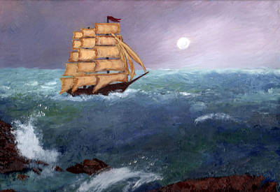 Painting - The Clipper by J Cheyenne Howell