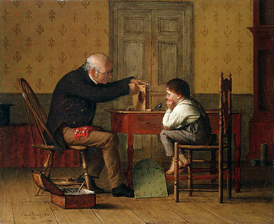 Fixing Painting - The Clock Doctor, 1871 by Enoch Wood Perry
