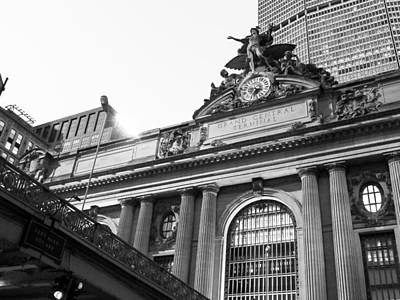 The Clock Of Grand Central Station In New York City Art Print