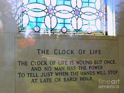 Photograph - The Clock Of Life by Ed Weidman
