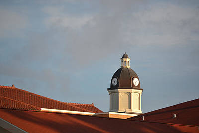Photograph - The Clock On The Columbia County Courthouse by rd Erickson