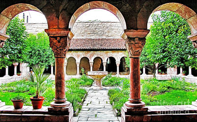 The Cloisters Garden Art Print by Nishanth Gopinathan